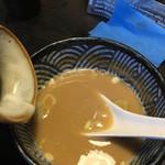 鶏soba 座銀  - スープ割り〜(*゚.∀゚*)/