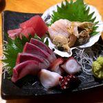 串や とりけん - お刺身四点盛¥780 2018.6.15