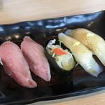 廻転寿司 CHOJIRO - すまがつお、イカ耳醤油漬