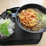 西湘パーキングエリア(下り線) フードコート - ミニしらす丼付き天ぷらそば2018.06.16