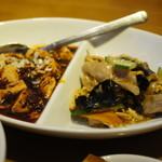 一味玲玲 - 週替わりコンビのおかずは、麻婆豆腐と週替わり