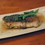 しのだ家 - 真鯛の香草焼き 山椒味噌ソース