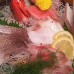 網元料理あさまる - おすすめ地魚5点盛り