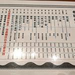 日本酒バル YODARE - 今日の日本酒1