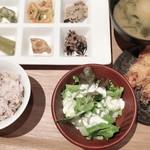 87796230 - 若鶏の天ぷら+ミニサラダ