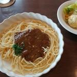 アン・シヤーリー・ハウス - この日の日替りランチ(680円)カレーパスタ サラダ付き