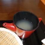 手打ちそば きた戸 - 蕎麦湯
