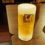 串かつ風土 大通り店 - ビールはキンキンです
