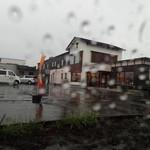 松屋 - 大雨です