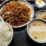 聚福縁 - 豚肉の四川風炒め定食