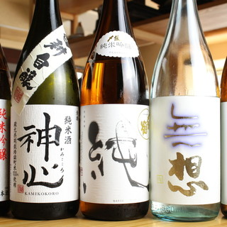厳選日本酒、20種あり〼。通も納得する銘酒が勢ぞろい