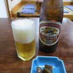 そば処山茂登 - 瓶ビール(キリンラガービール)