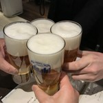87813441 - ビールで乾杯❗️