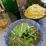 めん屋 桔梗 - 塩つけ麺(普通盛)&ハートランド2018.6.18