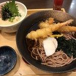 五穀 - 蕎麦と ネギトロ丼