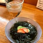 四季の寿司処 すしまる - 名物 黒もずく
