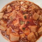 8782666 - マーボー豆腐、辣油の辛さのみ、まん中に少しの花椒あり。
