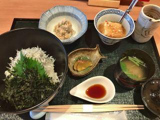 お料理 とみやま - 釜揚げしらす丼御膳