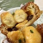 パンやきどころ RIKI - キャラメリゼしたバナナとチョコレート