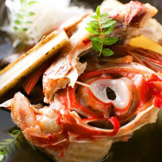 日本の四季を彩る素材の創作割烹料理