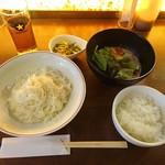 酒蔵レストランたから - 冷麺(素麺)ねばねば野菜付