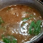 中華そば 椿 - つけ麺のスープアップ!!!!!ドロッとしたスープ!