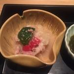 堂島雪花菜 - 【先付け】 ・豚肉、キャベツ、茄子、パプリカの塩麹煮