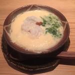 堂島雪花菜 - 【お椀】 ・鱧とアオサの茶碗蒸し