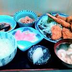 のざき - ミックスフライ定食