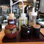 二代目 麺やケイジロウ - テーブル調味料