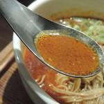 87836987 - 鬼・坦々麺(もっともっと辛く)のスープ