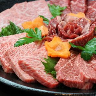 厳選した黒毛和種の焼肉、特上ヘレは忘れられない味!!