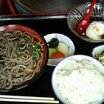 平和亭ちりそば処 - 釜揚げ定食(750円)
