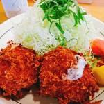 秀膳 - カニクリームコロッケ定食