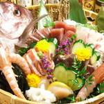 串本漁港直送 鮮魚盛り合わせ7種