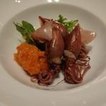 しろ - 料理写真:ホタルイカとトマトソース