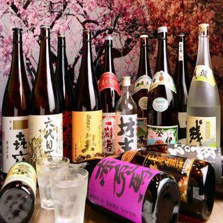 九州小町名駅店限定☆通常飲み放題に有名銘柄焼酎18種類追加