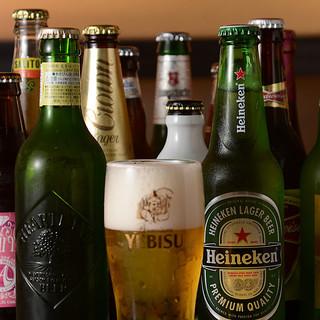 世界各国のビール充実◎ヱビス生がなんと!飲み放題OK◎
