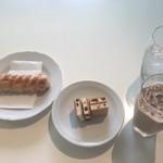 87856647 - マルセイアイスサンド+サクサクパイ+アイスカフェオレ
