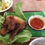 87857205 - ランチメニュー「アムリタ・スペシャル」の鶏の香ばし焼き