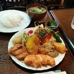 珈琲サバンナ - 料理写真:火曜日の日替りランチ(ご飯少なめ)