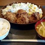 はまなす - 北海道料理の店 はまなす @中葛西 ランチ ざんぎ定食 税込800円 ご飯少な目でお願い
