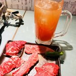 立食焼肉 一穂 - トマト酢チューハイ☆ココノはそんなに甘くない☆ 飲みやすいかも♪