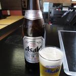 焼きそば研究所 くましまや - 瓶ビール(中瓶) 500円 (2018.6)