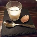 ビストロ クプレ - レモンのプリンと海老