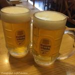 ともゑふぐ料理店 - ランチ生ビール(300円税込)