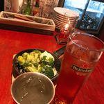 Gastro Sukegoro - お通し+レゲエパンチ+モスコミュール