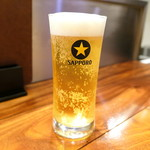 トラットリア ピアット フレスコ - まずはビールで