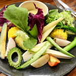 トラットリア ピアット フレスコ - 厳選野菜のバーニャカウダ