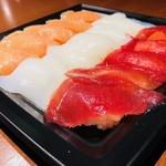KITSUNE - 軽食付で出てきたパック寿司!